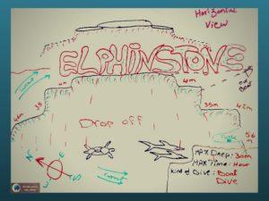 Elphinstone reef diving map