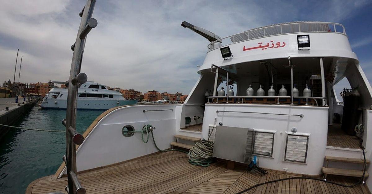 MV SUNLIGHT dive deck. Egypt